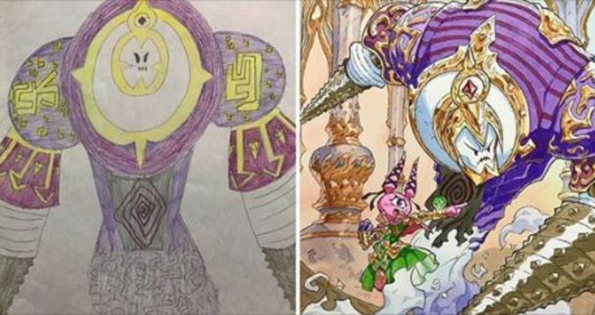 畫家老爸幫兒子的塗鴉角色「進化」 變身「超帥角色」大集合畫面超酷