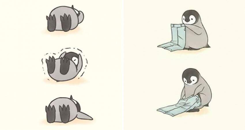 「企鵝寶寶的日常困擾」插畫各種萌 療癒系風格讓大家看一次就被圈粉啦