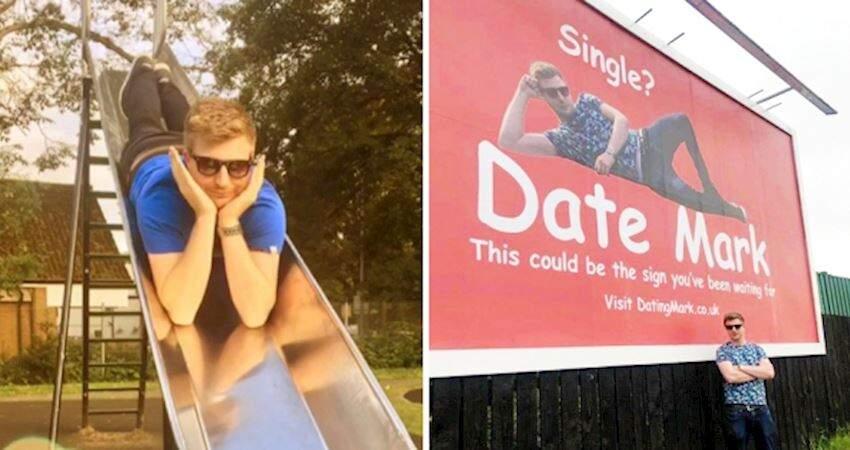 買巨型廣告徵女友!單身男不管別人看衰 隔天爽喊:2千人求約會
