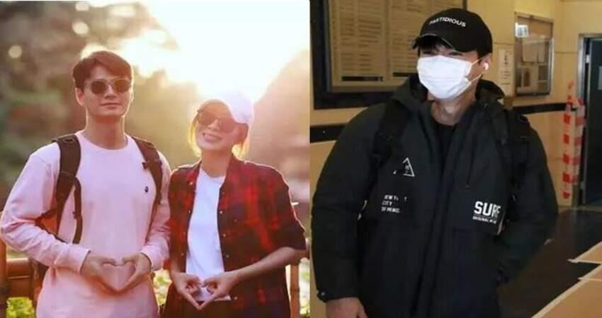 楊怡老公預告稍後再公開胎兒性別,春風滿面戴口罩也藏不住笑容