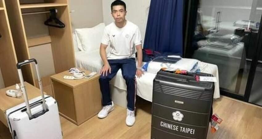 5屆奧運元老莊智淵「微開箱」選手村房間 坐「厚紙板」床架拍照