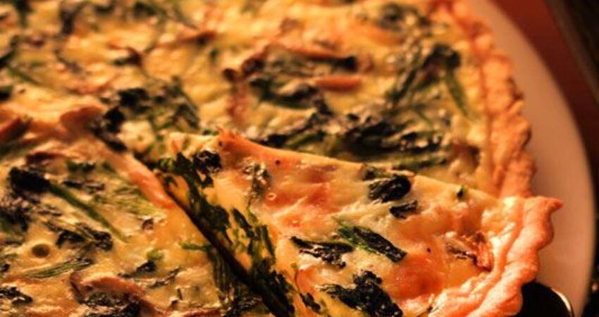 聖誕節食譜,年菜食譜,素食食譜-3種cheesewith菠菜&鴻禧菇法式鹹派