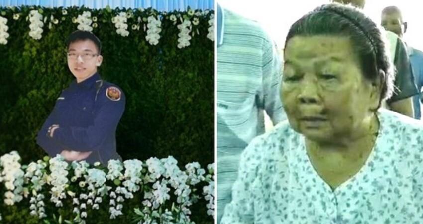 勇警李承翰告別式!91歲阿嬤最後才知道「淚崩送走金孫」 外甥女抱著媽媽哭:「我想念舅舅了」
