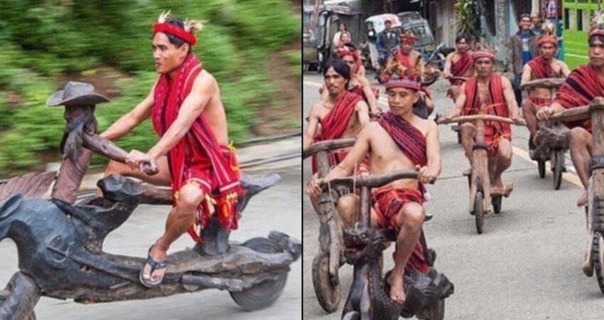 超猛原住民DIY「木雕腳踏車」騎上街 拉風狂飆「舉辦尬車比賽」近看:更勝BWS!