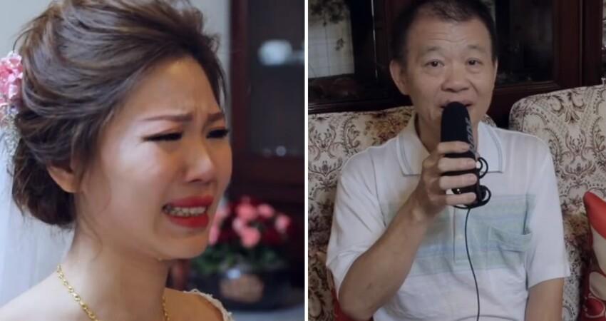 新娘哭著拜別「爸爸什麼也沒說」 事後含蓄爸泛淚「瞞著她錄音祝福」大家默默紅了眼眶