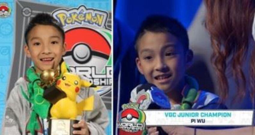 台灣第一人!10歲男孩勇奪「寶可夢世界大賽冠軍」 堅持「全程披國旗上陣」感動眾人:真正愛台灣