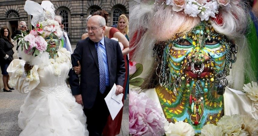 全身穿7000個洞遭譏「最醜新娘」 億萬富豪老公卻高調娶:超美好嗎!