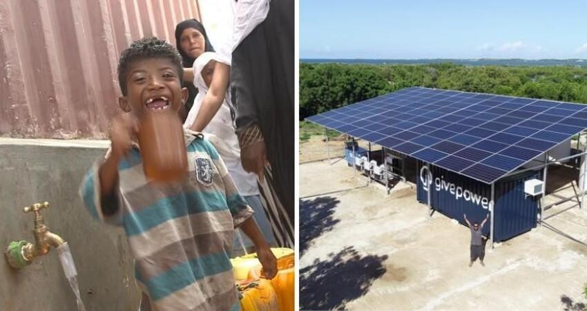 超棒發明!肯亞首間「太陽能造水廠」誕生 孩子第一次「喝到乾淨飲用水」驚喜喊:原來這麼好喝!