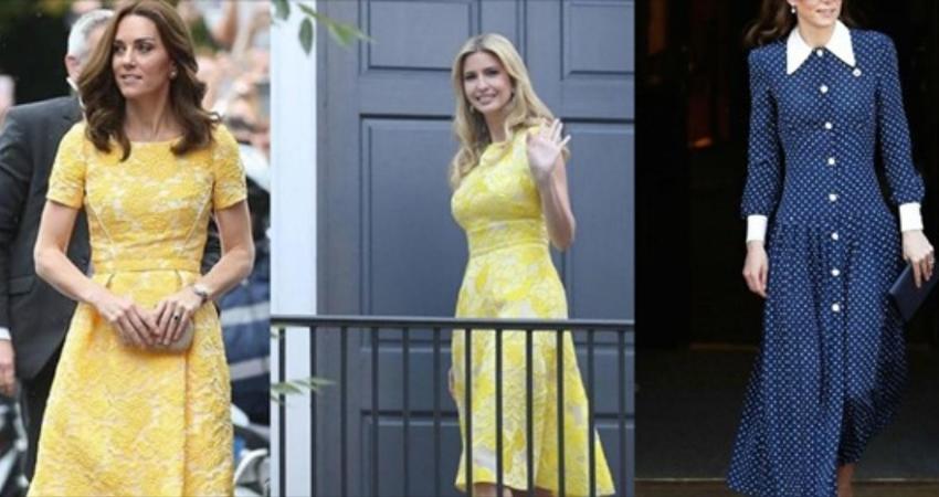 三次撞衫大不同!凱特王妃和伊萬卡「穿同款連衣裙」,都是37歲三娃媽媽,身材品味卻也大不同