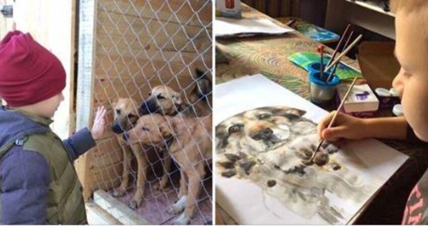 寵物肖像畫「只收罐罐跟用品」當謝禮 9歲童當「最小義工」養活收容所動物