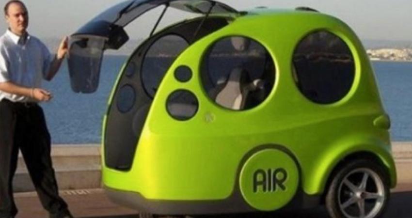 地球暖化有救了!印度「空氣汽車」免油不費電 灌入空氣「能跑200公里」每輛不用6萬塊!