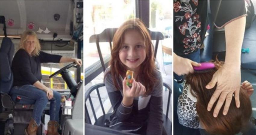 11歲女孩失去媽媽「每天頂著凌亂馬尾」上學 女司機看不下去「親手為她編出最美髮辮」暖翻