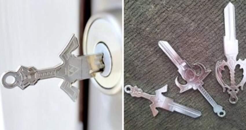 開個門也要帥!設計師客製「寶劍鑰匙」 隨身佩劍喚醒心中的中二魂~