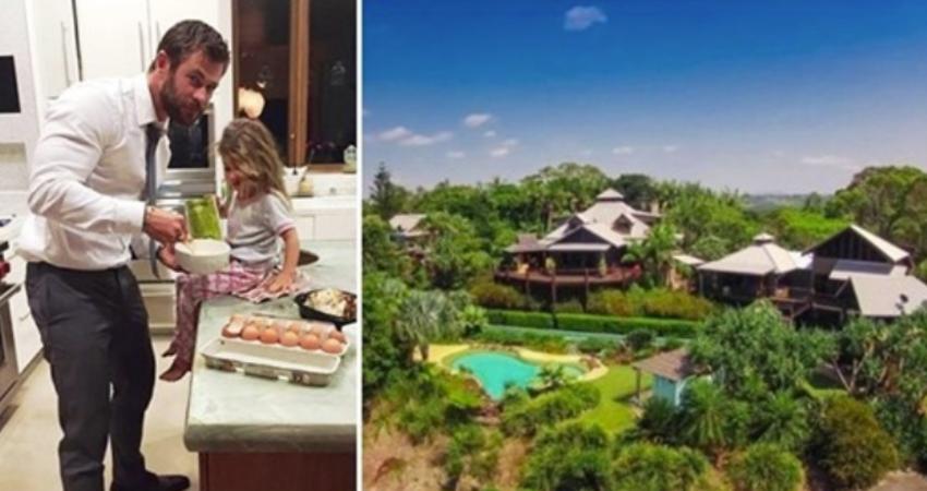 雷神索爾2億豪宅曝光!整間峇里島風「比6個足球場還大」 看到「夢幻戶外廚房」網讚翻:以為度假村!