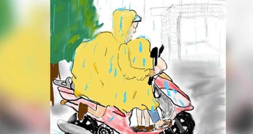 台灣人一定穿過!她畫出「媽媽牌雨衣」小時候超怕被笑 網友淚曬「真人還原版」秒鼻酸:長大才懂珍惜