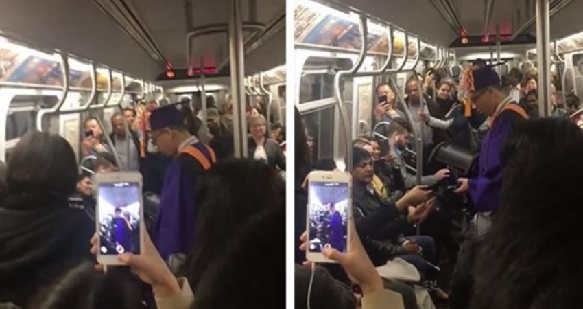 地鐵突然停住!男大生困在車廂「錯過畢業典禮」 結果「全車乘客決定聯合幫他辦一場」溫暖全國