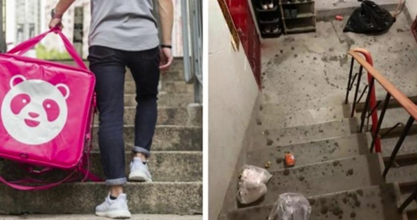 雨天爬6樓送餐!女大生領完餐「把零錢灑在樓梯間」甩門就走 外送員「一路撿到樓下」恍然大悟:故意的?