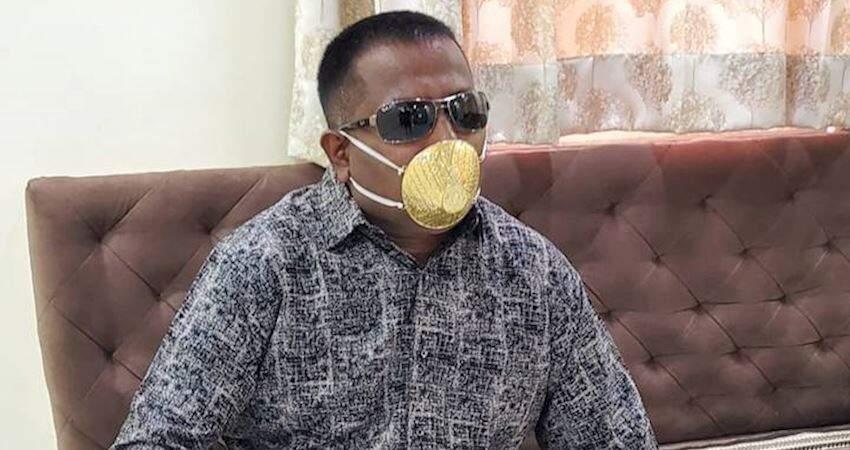 印度富豪砸28萬訂製「純金口罩」 本人為透氣特別要求:上面開滿小孔
