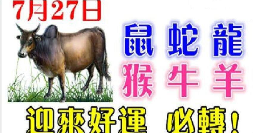 7月27日生肖運勢_鼠、蛇、龍大吉