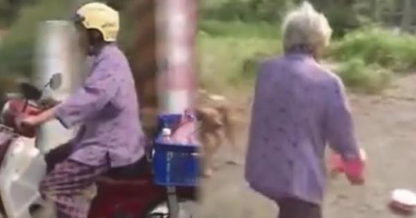 高齡86歲的阿嬤天天騎著載滿飼料的摩托車趴趴走 結果進一步了解才知道奶奶真的好有愛心...感動!