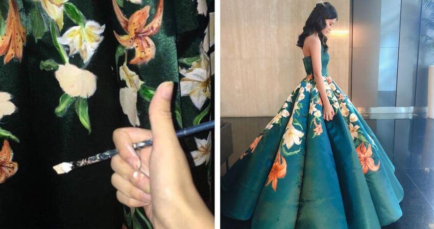 17歲女高中生「手製畢業禮服」零撞衫 絕美成品驚艷40萬人:當設計師吧!
