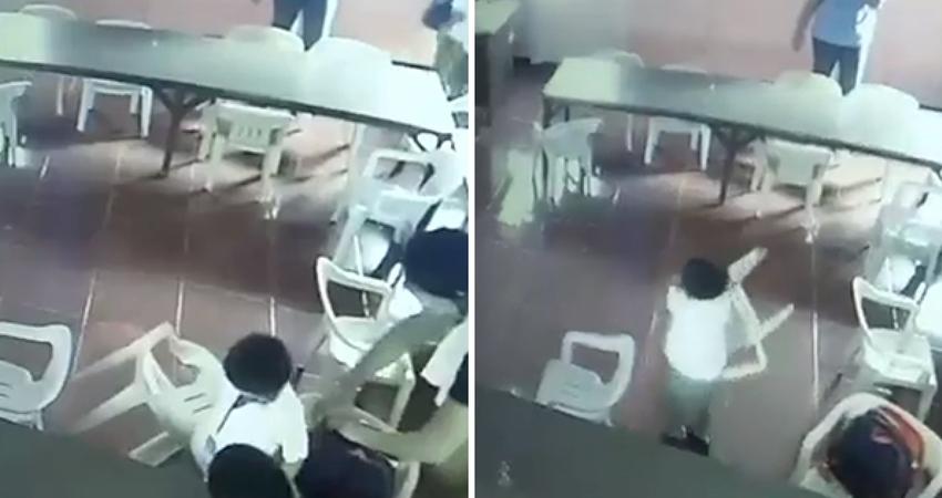 男童睡午覺醒來「超茫」 誤把椅子當書包揹走害老師笑到拍桌