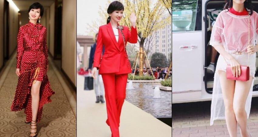 50歲過後穿什麼顏色!學趙雅芝穿古典紅「12套造型美若天仙」65歲穿出古典美人韻味