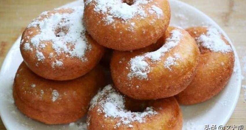甜甜圈最簡單的一種方法喧軟香甜,比買的好吃
