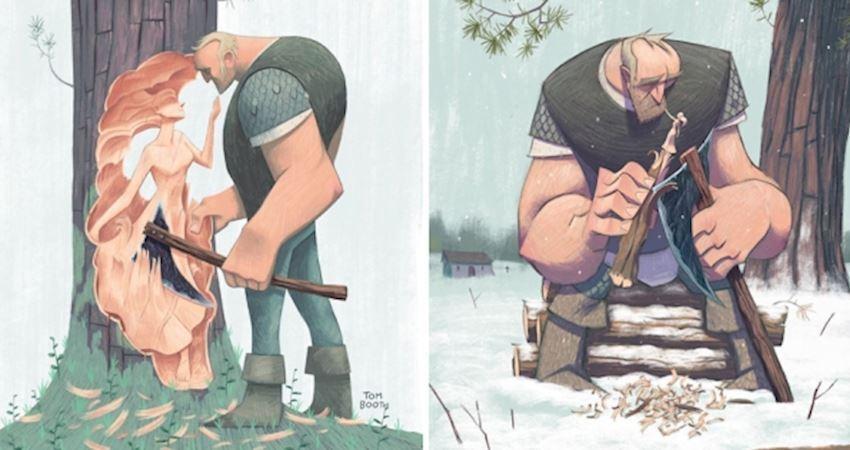 只想再抱妳一次… 12張「失去過摯愛特別能懂」的孤獨木匠插畫
