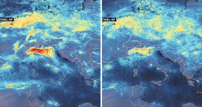 空氣變好了?!義大利防疫全國大封鎖 衛星圖顯示「空污大幅減少」