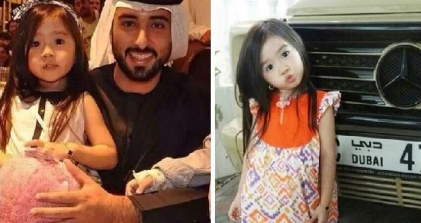 5歲女孩萌到「被阿拉伯土豪收服」全家被接過去住,「長大後的樣子」網友直呼:最年輕的富婆!