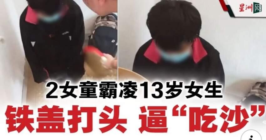 13歲女生遭霸凌·兩名12歲女童用鐵蓋打頭