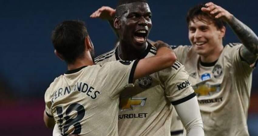 英超戰報:曼聯3-0維拉,B費傳射,博格巴賽季首球