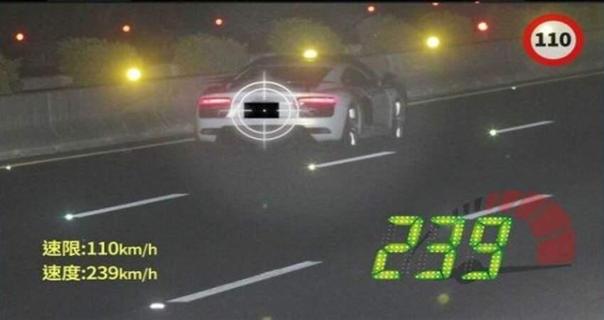 奧迪R8飆239km遭扣照萬人逆風槓國道警