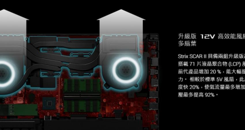 關於asus12V風扇對於筆電散熱優勢的說明