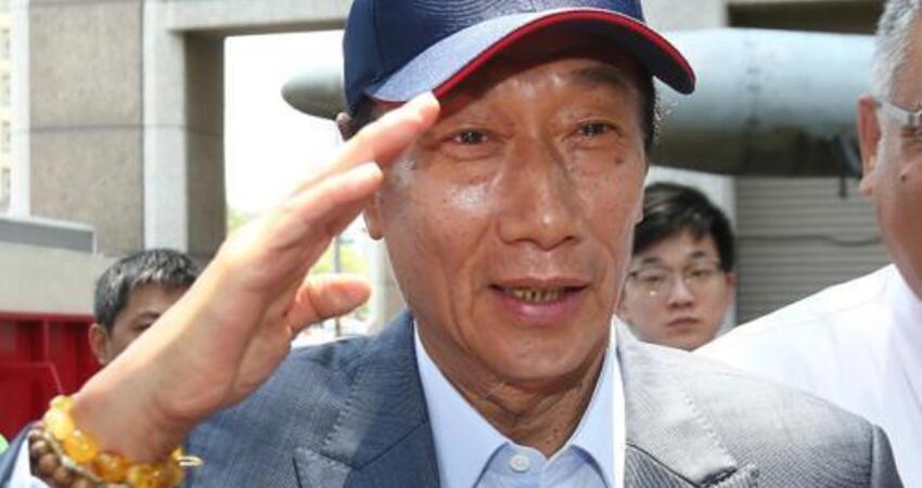 韓國瑜在高雄升那麼多國旗 郭台銘:他是我的英雄