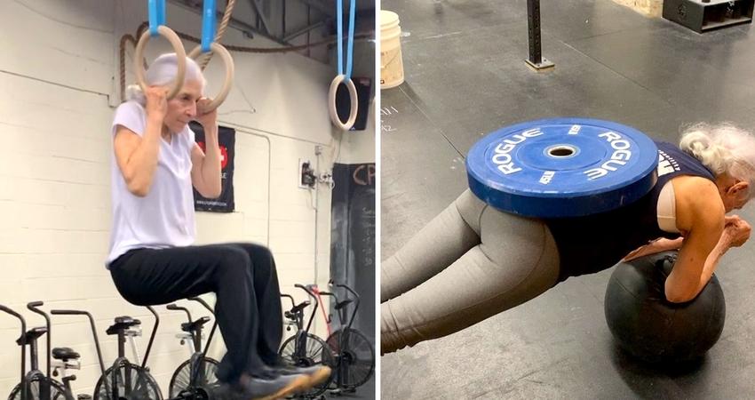 72歲狂嬤天天去健身房 一秀「超猛手臂肌」比年輕人還壯