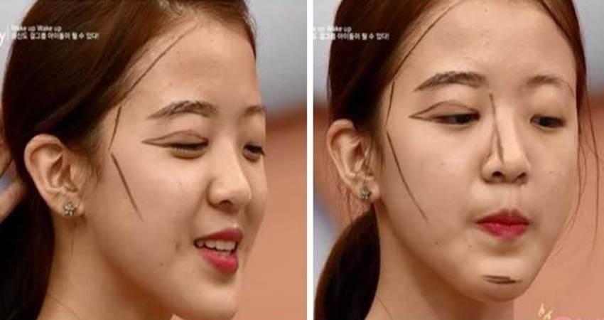 現在韓國妹子已經不流行整容了!超扯『整容級化妝術』!