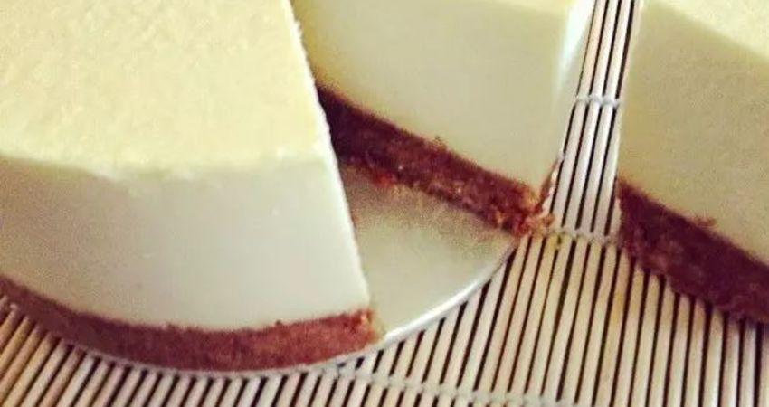 清新低脂口感細滑 | 凍芝士豆腐蛋糕