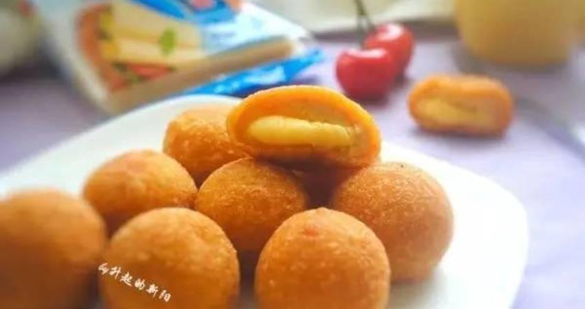 做法簡單,吃一口滿嘴香! | 香甜軟糯芝心南瓜球