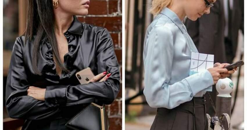 學會絲質襯衫的4種穿搭小心機,你也能優雅得毫不費力