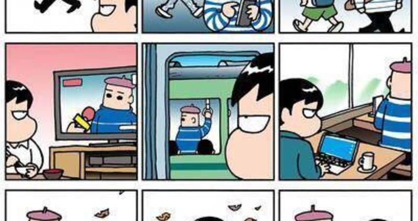 日本網民:這幅漫畫只有很聰明的人才能理解