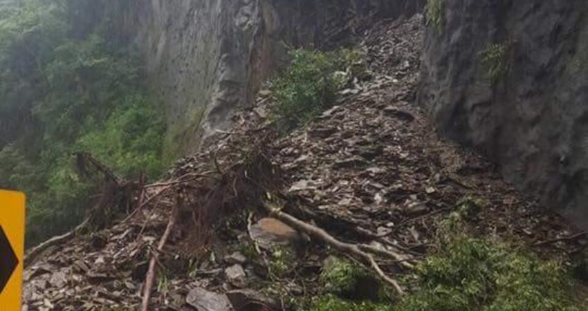 (影)台14線-埔里往清境合歡山部份路段坍方...