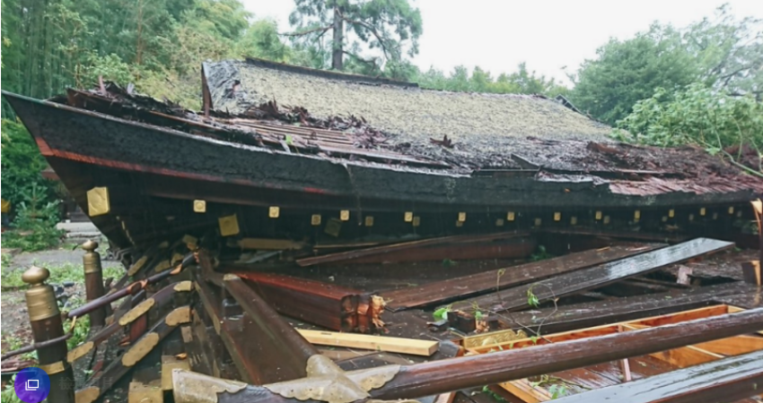 二戰後最強狂風肆虐 京都多處古剎名勝遭殃