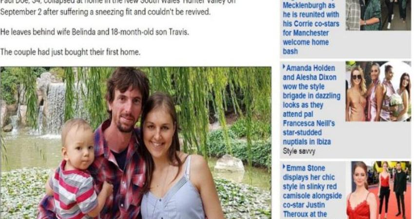 連打20幾次噴嚏「妻以為開玩笑」 34歲男癱地死亡!