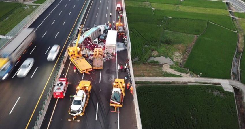10車追撞1死8傷孕婦喚不回軍人丈夫 國道3號通霄路段連環車禍慘劇