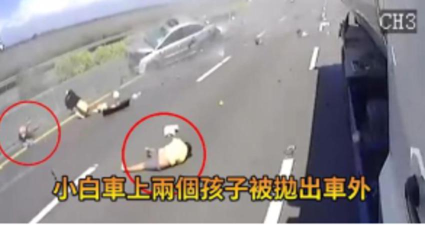 國道行駛「沒繫安全帶」乘客遭噴飛 畫面曝光超驚悚