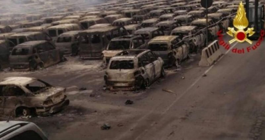 慘!海港水火連攻 百輛「全新瑪莎拉蒂」燒成廢鐵