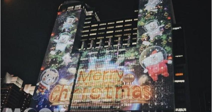 新北歡樂耶誕城搶先看!聖誕樹亮燈3D投影太美