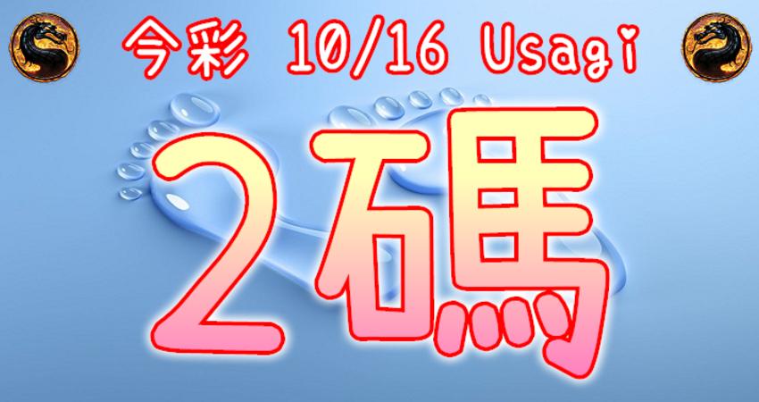今彩539 2020/10/16 Usagi 精選2碼 全車 供您參考